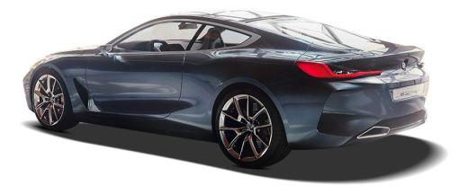 BMW 8 Series Rear Left View Image