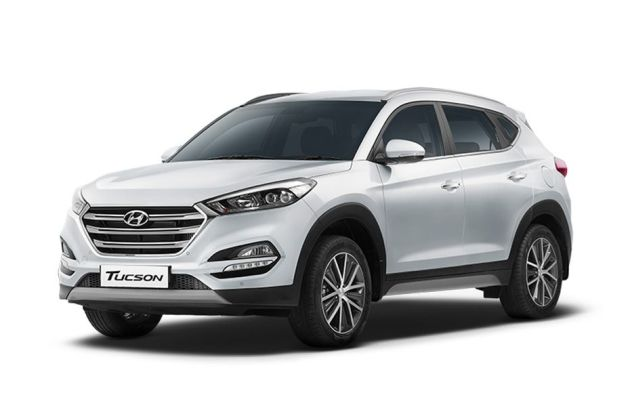 Hyundai Tucson Pure White. Star Dust