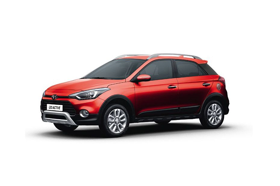 Hyundai i20 ActiveFiery Red Color