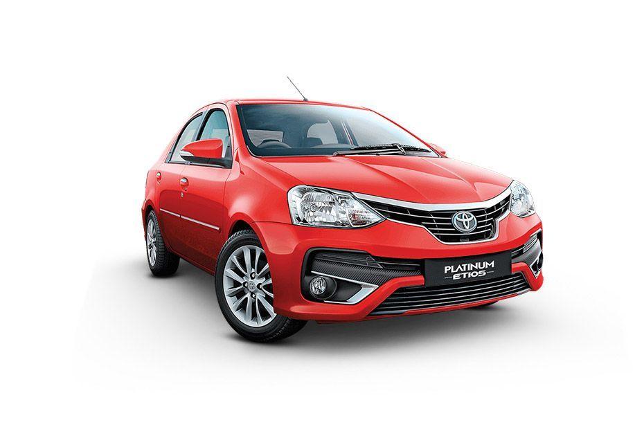 Toyota Platinum EtiosVermilion Red Color