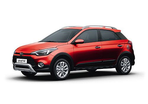 Hyundai i20 Active Fiery Red Color