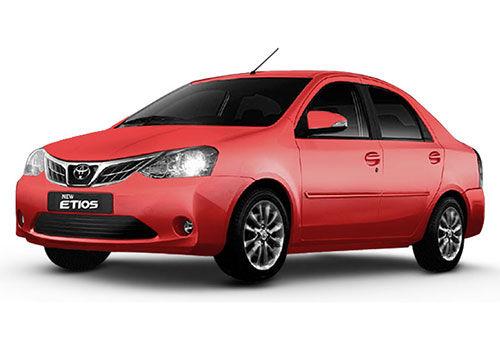 Toyota Etios 2014-2016 Vermilion Red Color
