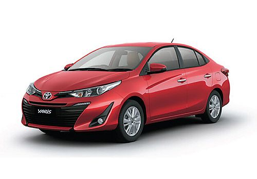 Toyota Yaris Wildfire Red Color