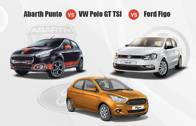 Abarth Punto Vs Volkswagen Polo GT Vs Ford Figo