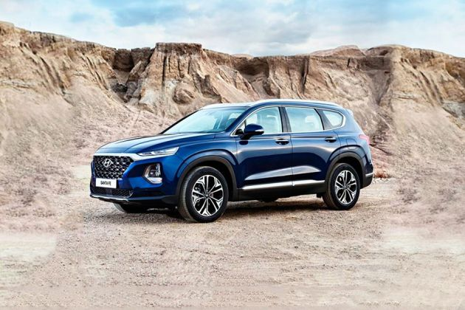 Hyundai Santa Fe 2019 Front Left Side Image