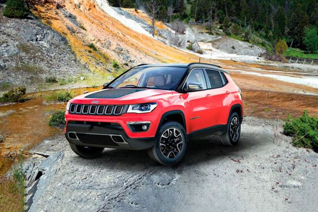 जीप कंपास trailhawk front left side image
