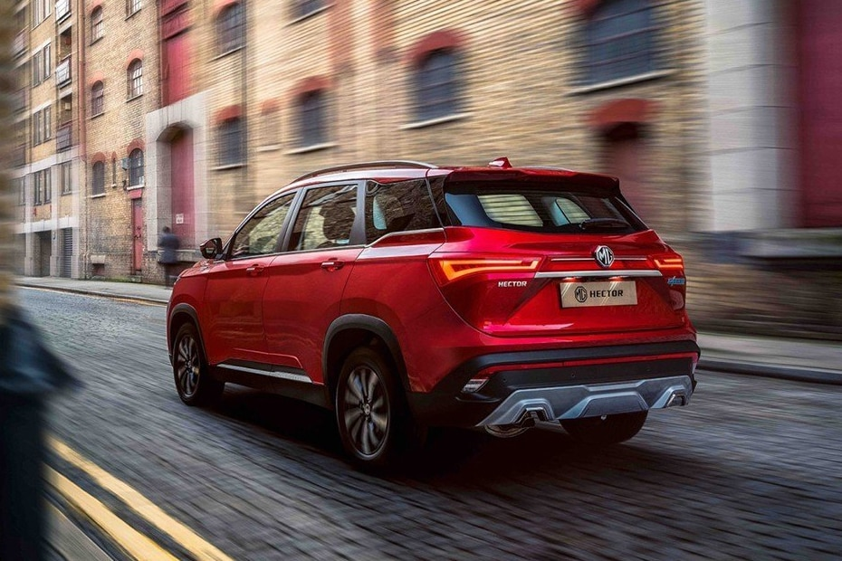 MG Hector Rear Left View
