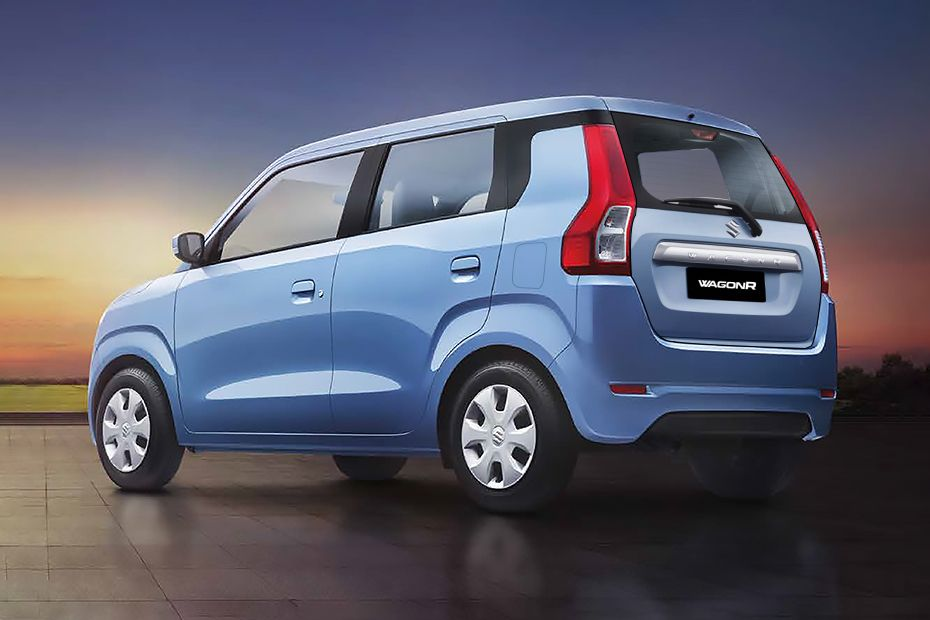 New Maruti Wagon R Rear Three-Quarters