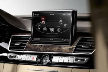 Audi A8 Navigation or Infotainment Mid Closeup