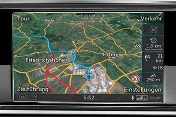 Audi RS6 Avant Navigation or Infotainment Mid Closeup