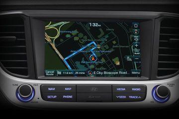 Hyundai Verna Navigation or Infotainment Mid Closeup