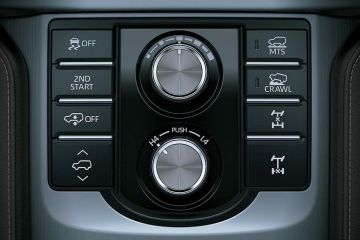 Toyota Land Cruiser Prado Navigation or Infotainment Mid Closeup