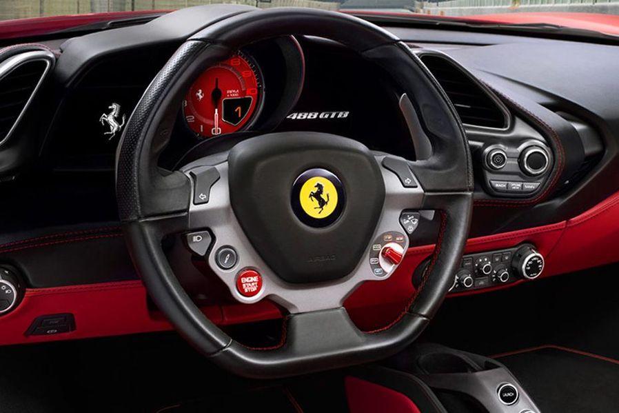 Ferrari 488 GTB Steering Wheel Image