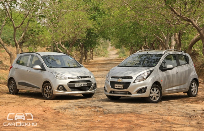 Chevrolet Beat vs Hyundai Grand i10