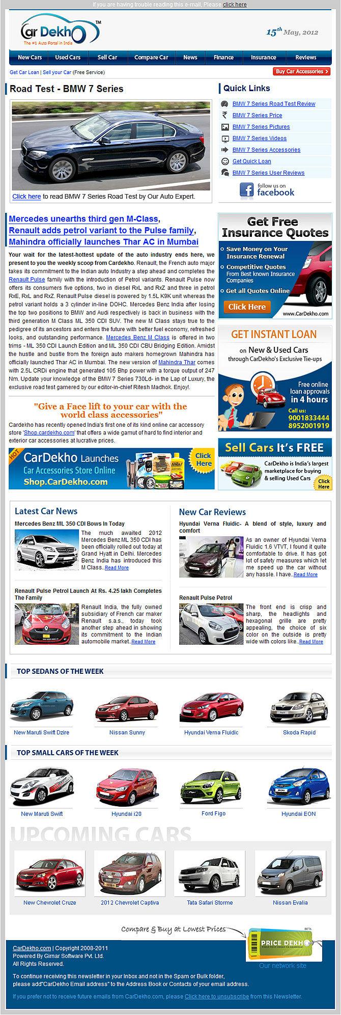 CarDekho NewsLetter - Subscribe Newsletter | CarDekho com