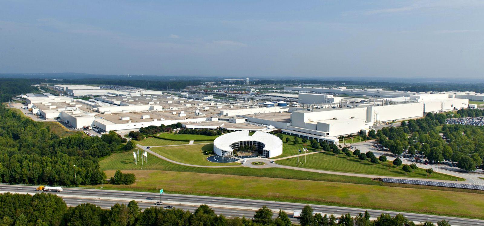 BMW Plant, Spartanburg, South Carolina -  Aerial Photo 2014