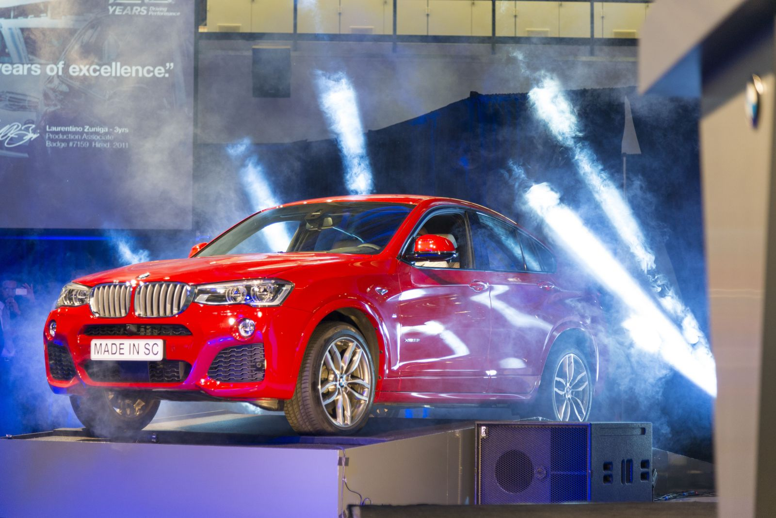 The all-new BMW X4 made in SC revealed