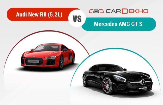 Audi new R8 vs Mercedes AMG GT S