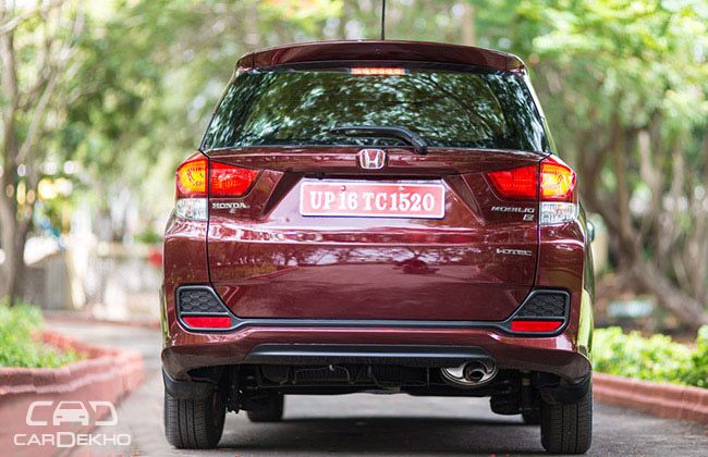 Honda Mobilio Road Test Images