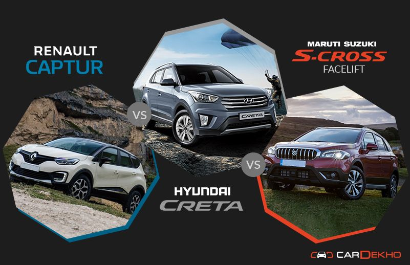 Renault Captur vs Creta vs S-Cross