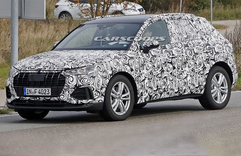 AllNew Audi Q Spied For The First Time CarDekhocom - Audi car lineup
